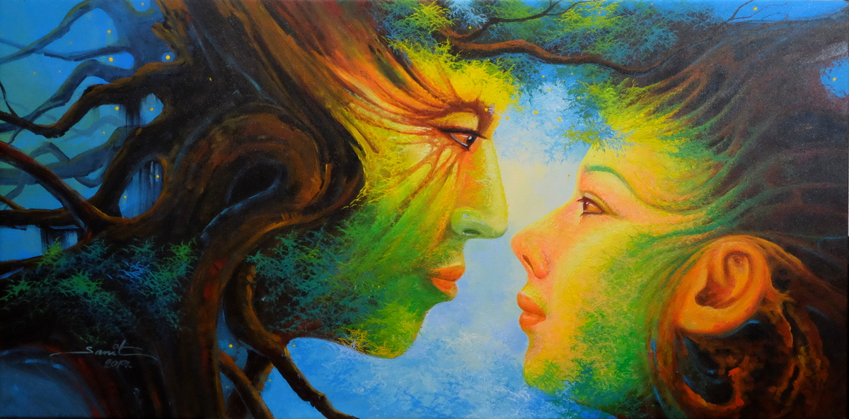 Natural Feeling - Acrylgemälde