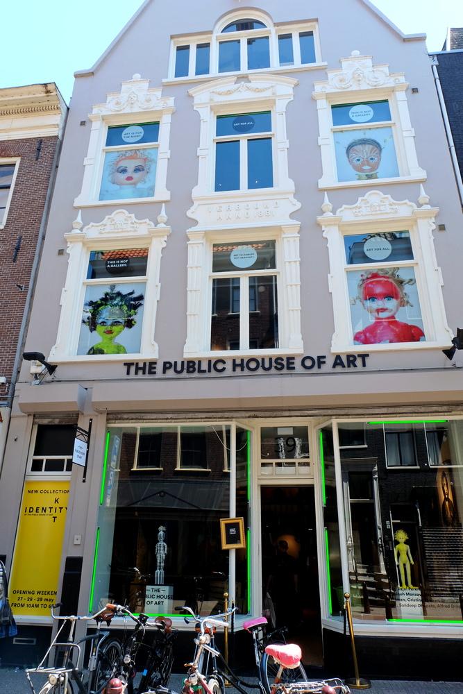 """Galerie """"The public house of Art"""" in Amsterdam, eine Kunstgalerie offen für alle. Das hat mich inspiriert."""