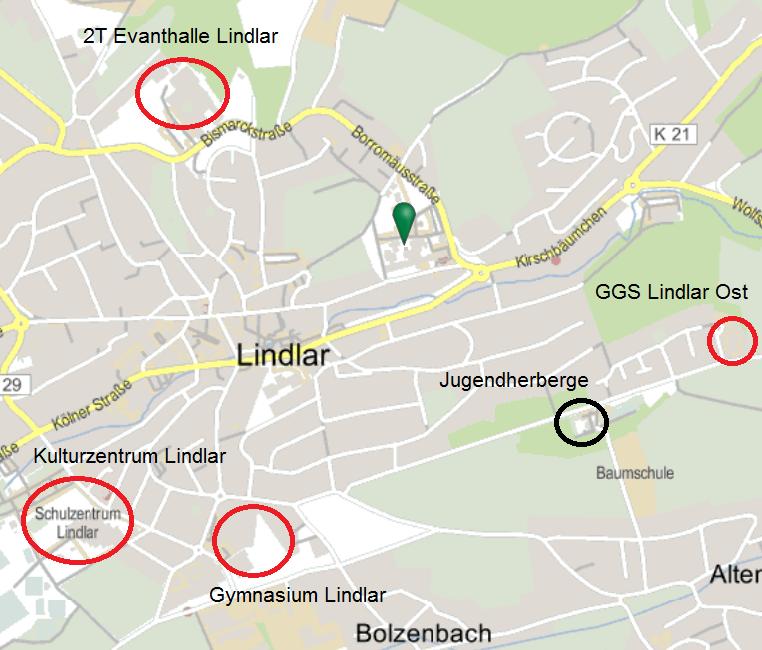 Probenorte in Lindlar