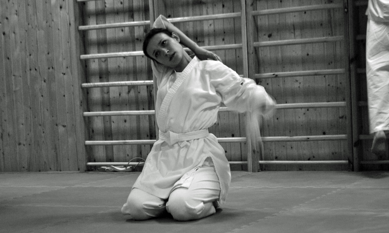 "Сдача на желтый пояс по каратэ актерами ""А.Р.Т.О."", 2 февраля 2013. Фото - архив театра ""А.Р.Т.О."""