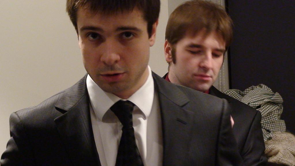 """Подготовка к спектаклю """"[бох]"""", февраль 2010 г."""
