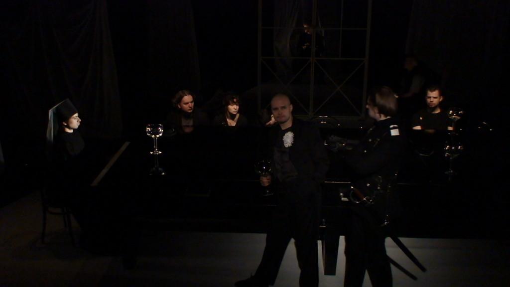 """Репетиция спектакля """"Мистерия-Буфф"""". Москва, Центр им. Вс.Мейерхольда, март 2008 г."""