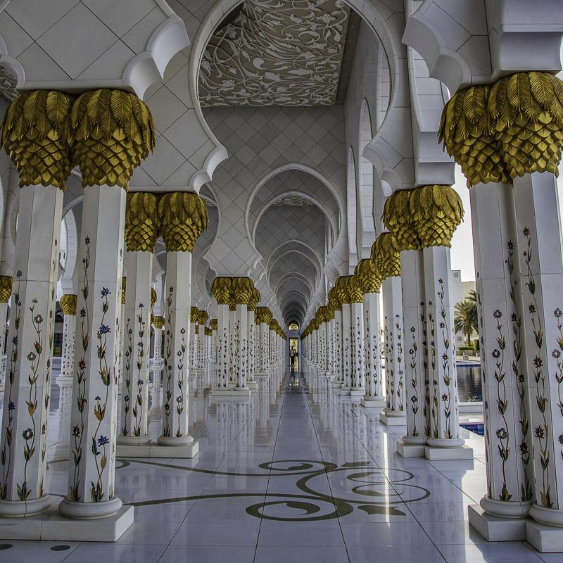 Abu Dhabi - Corridoi nella Grand Mosque
