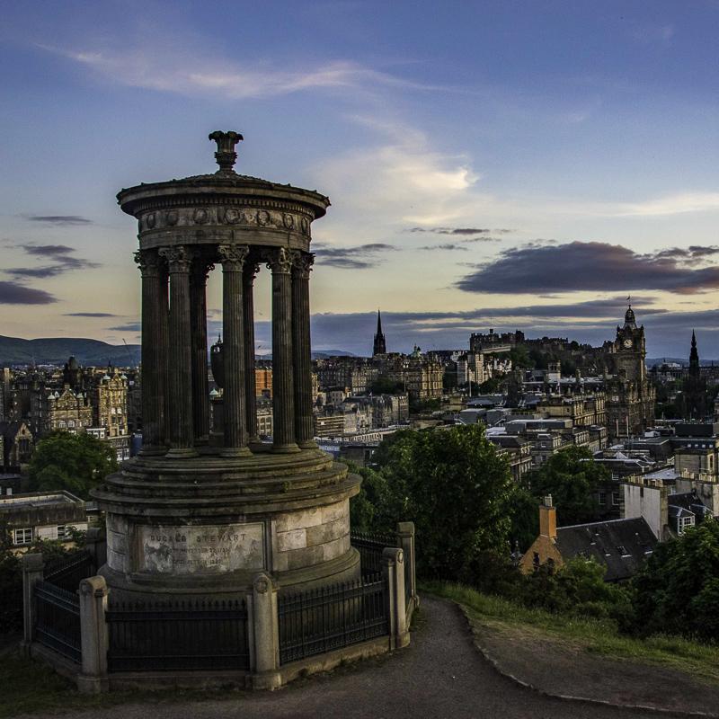 Scozia - Edimburgo da Calton Hill