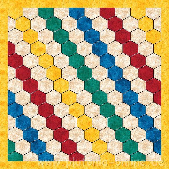 Entwurf einer Patchwork-Babydecke aus Hexagon
