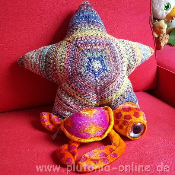 Mein zweites Sternenkissen aus Sockenwollresten