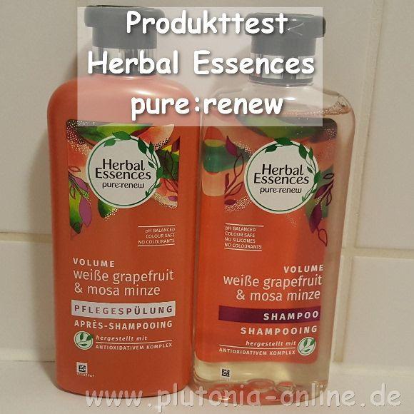 Testbericht: Herbal Essences pure:renew Shampoo und Spülung weiße grapefruit & mosa minze