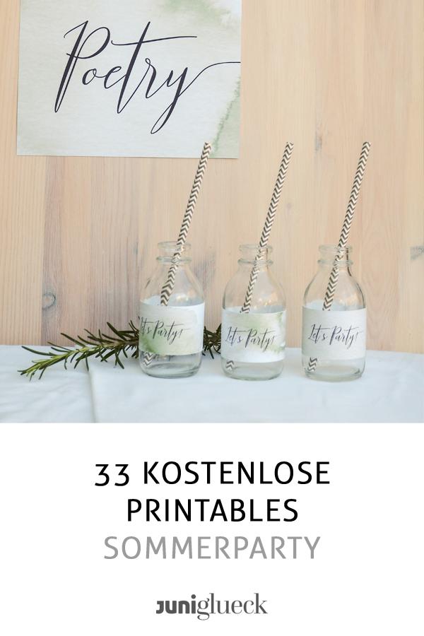33 kostenlose Printables für deine Sommerparty