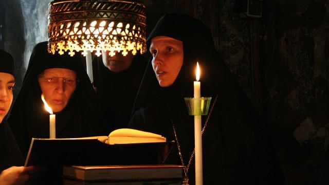 """Byzantinischer Gottesdienst, Kloster des Heiligen Georg """"Karaiskakis"""""""