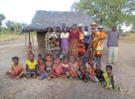 Dorfbewohner Madagaskars