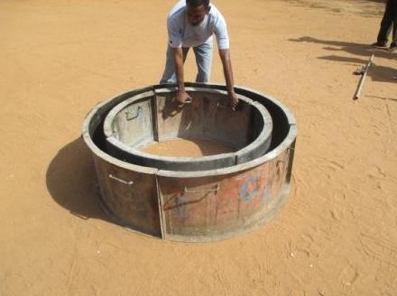 Schalungsringe des Brunnenbaus