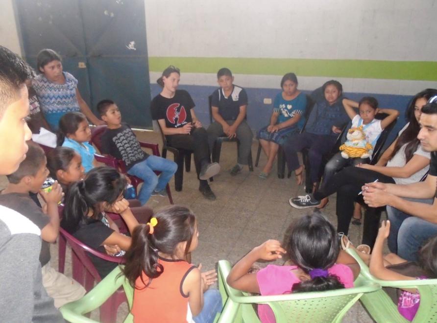 Gemeinsames Treffen mit den Schülern