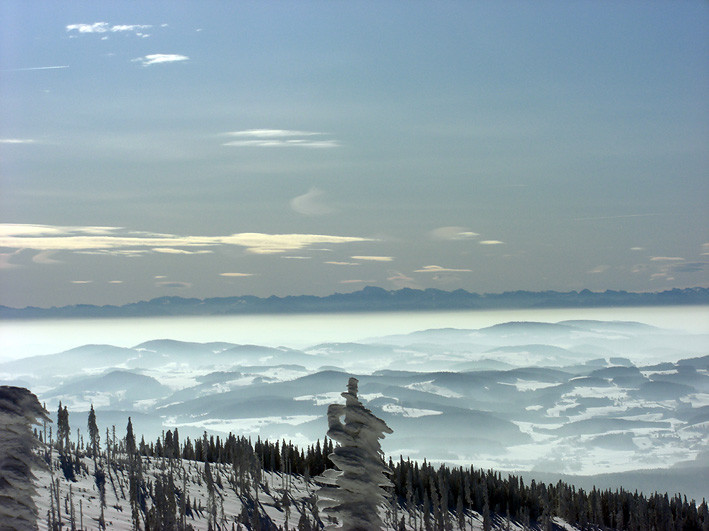 Eiskalter Alpenblick vom Dreisessel