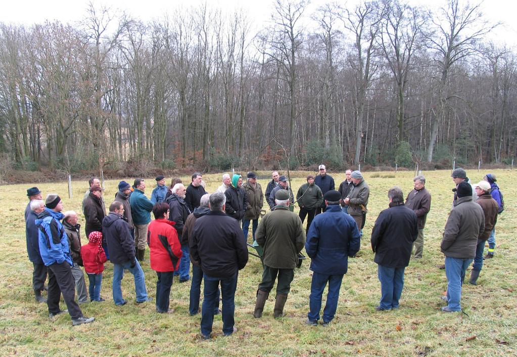 25. Februar 2012: Der erste Obstbaumschnittkurs des NABU Bückeburg