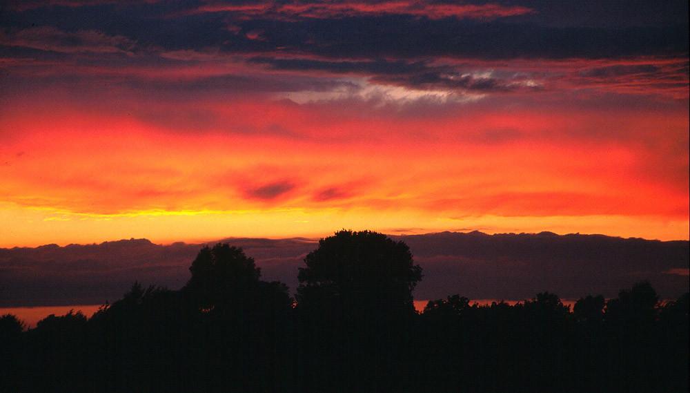 Sonnenuntergang nach Sommergewitter