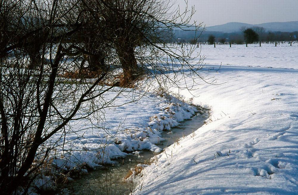 Gräben sind zugefroren