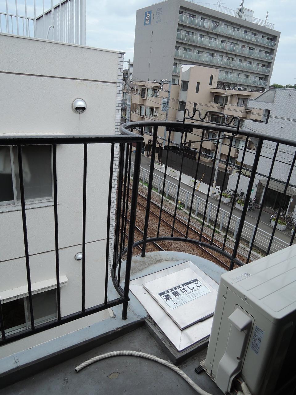 最上階。バルコニーからの眺め
