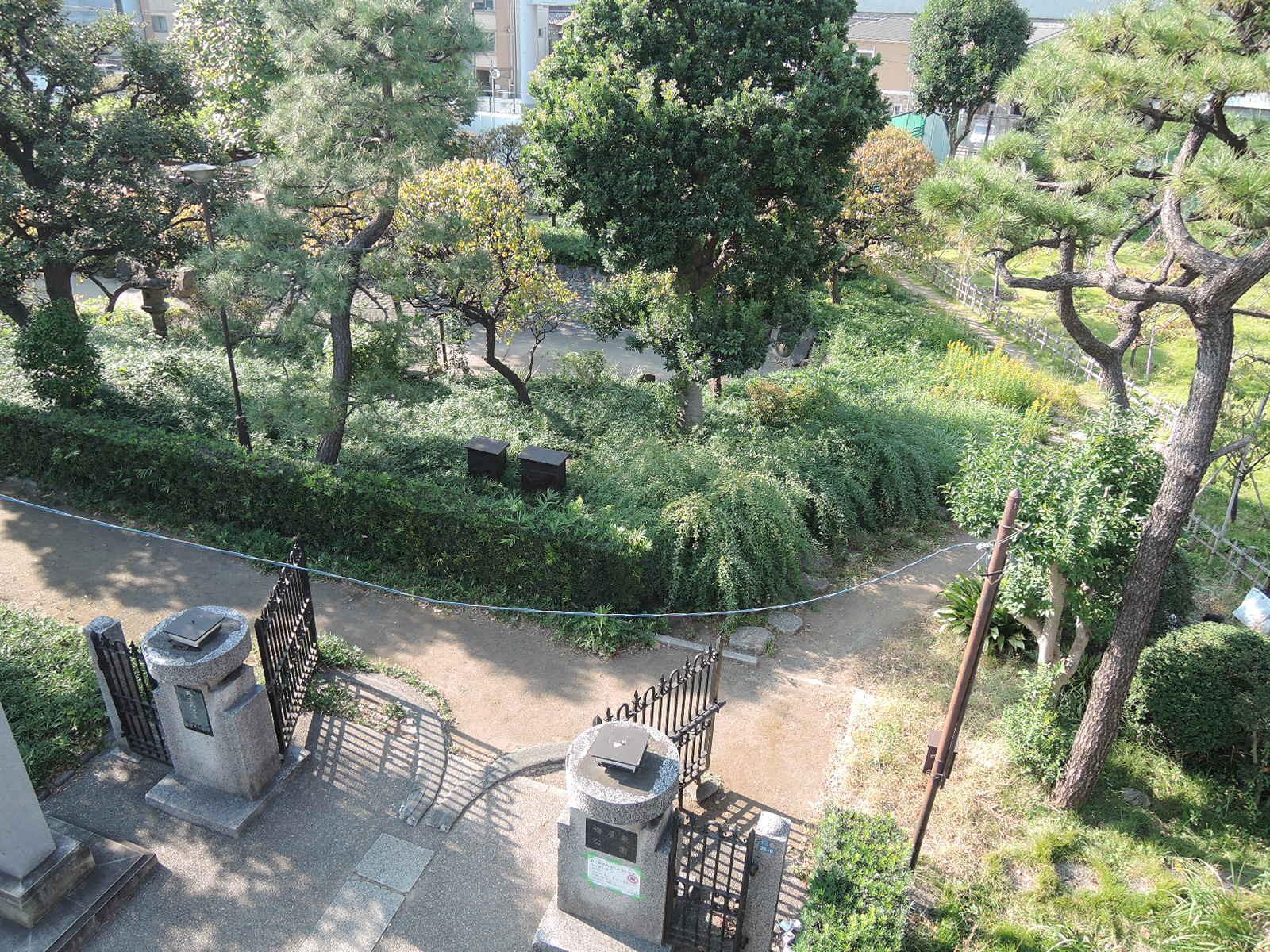 駅名の由来となった聖蹟蒲田梅屋敷公園
