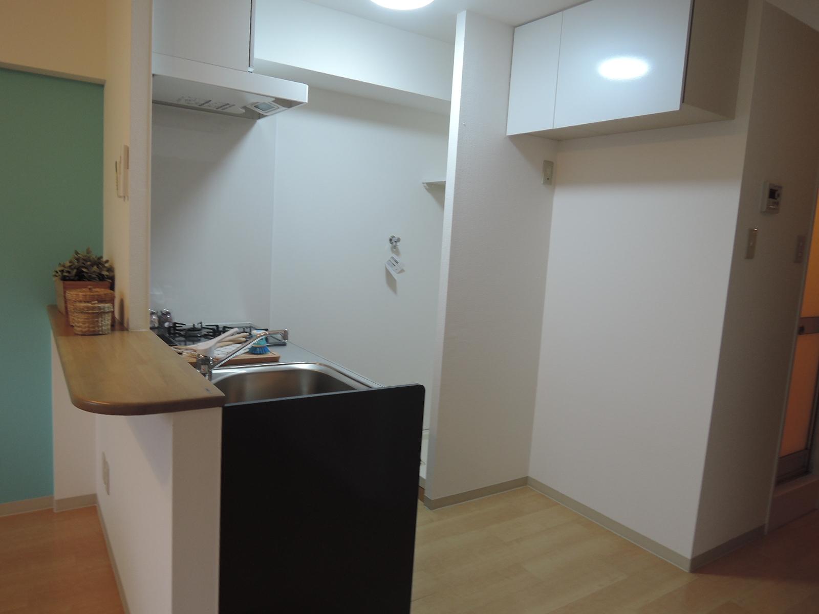 キッチンのスペース。カウンター付きです