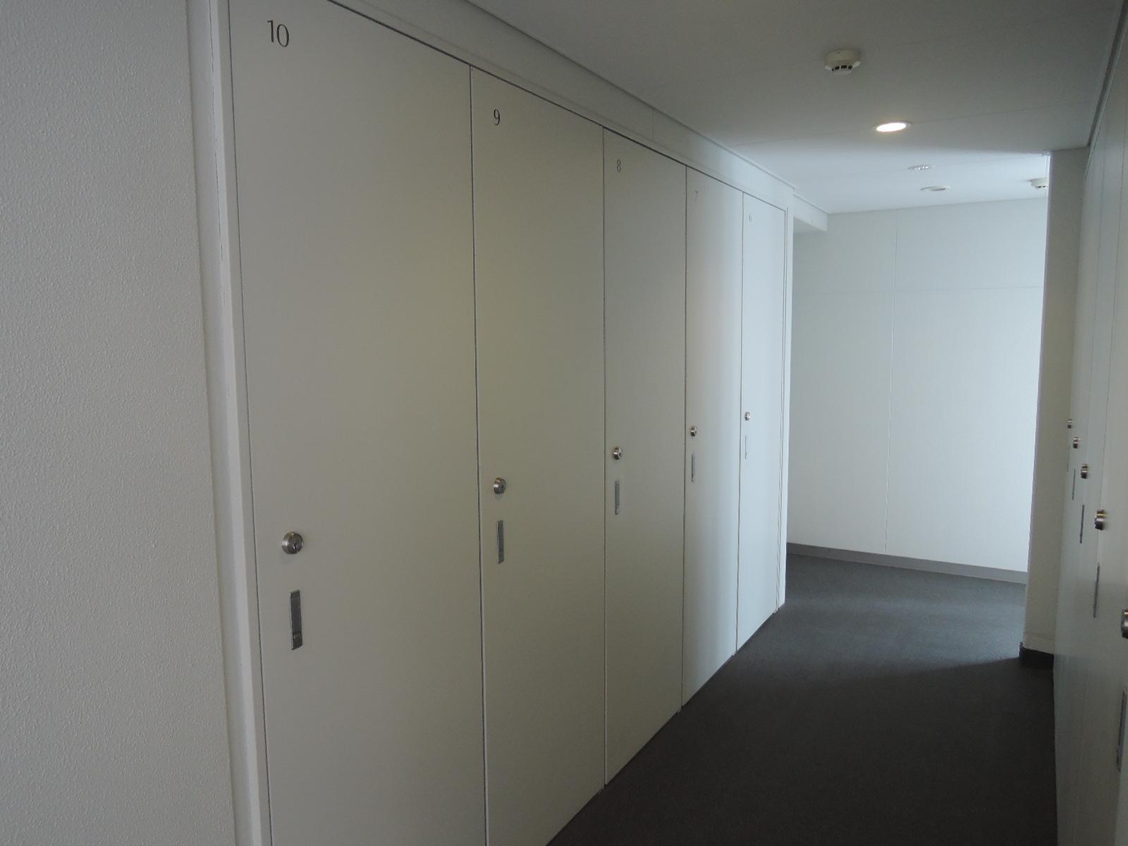 トランクルームはお部屋と同じ階にあります