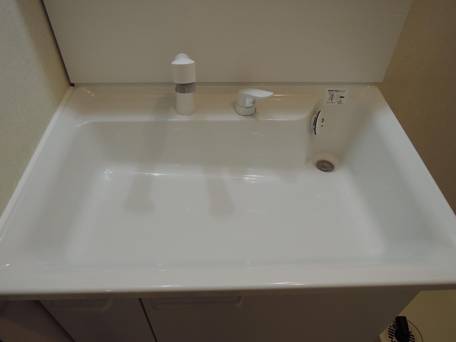 すっきりとした洗面台