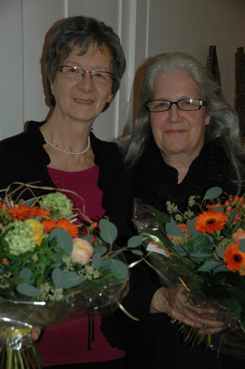 SCV Veteraninnen 35 Jahre, Elisabeth Stiefel u. Margrit Hanselmann