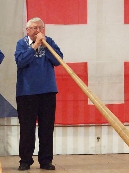 Karl Barth an der Bubiker Bundesfeier im Jahr 2012.