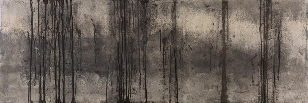 Ohne Titel, 125x42cm, Acryl auf Holz