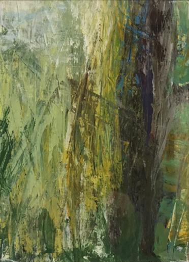 Wald 1, 13x18cm,  Acryl auf Papier