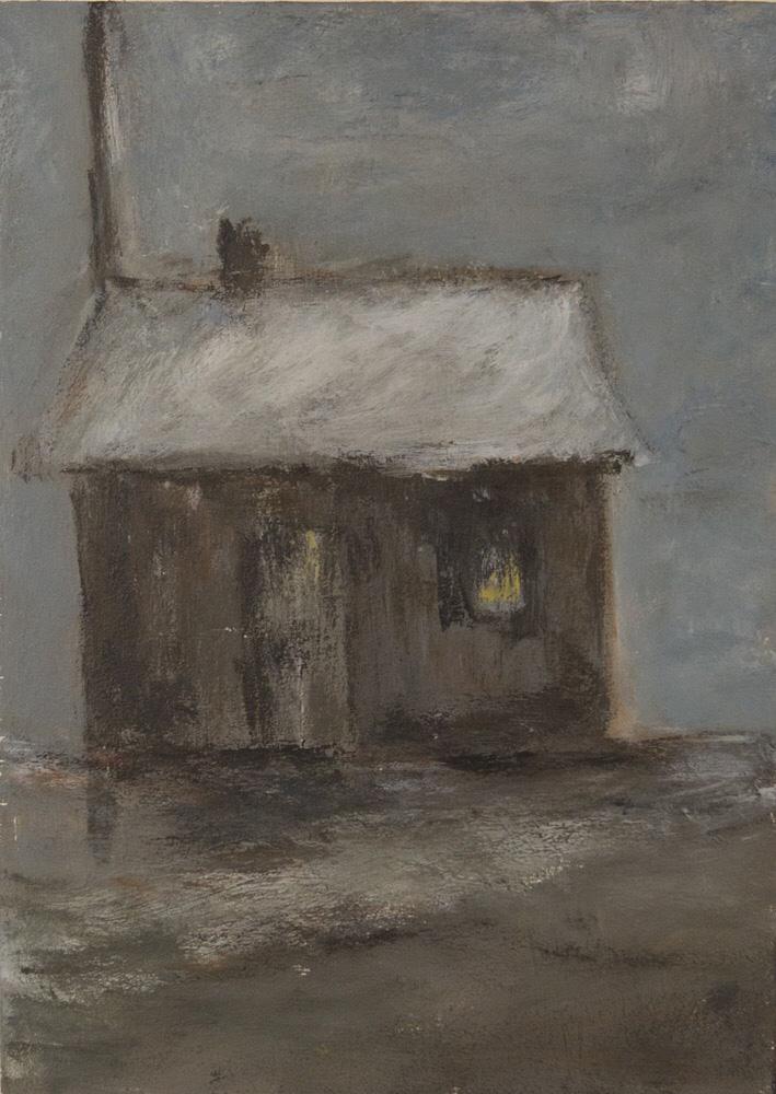 Haus, 26x36cm, Acryl auf Holz