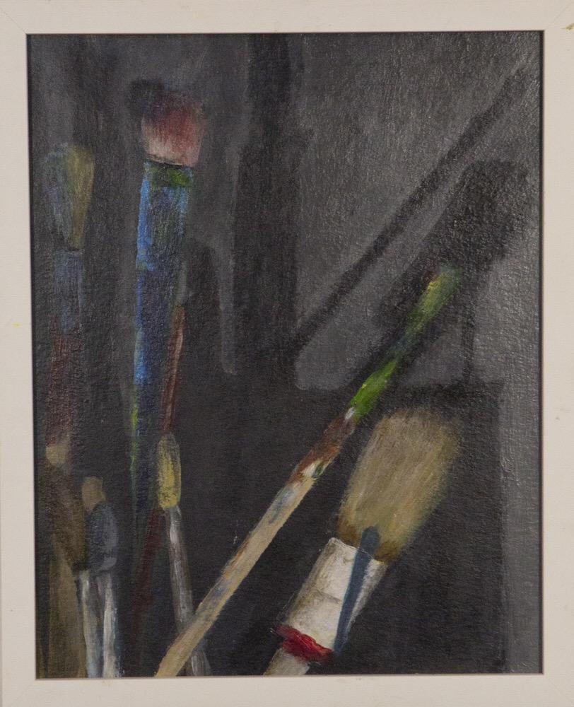 Pinsel, 24x30cm, Acryl auf Papier