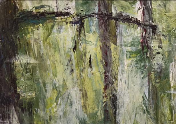 Wald5, 18x13cm, Acryl auf Papier