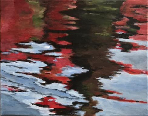 Spiegelung 1, 30x24cm, Öl auf Leinwand