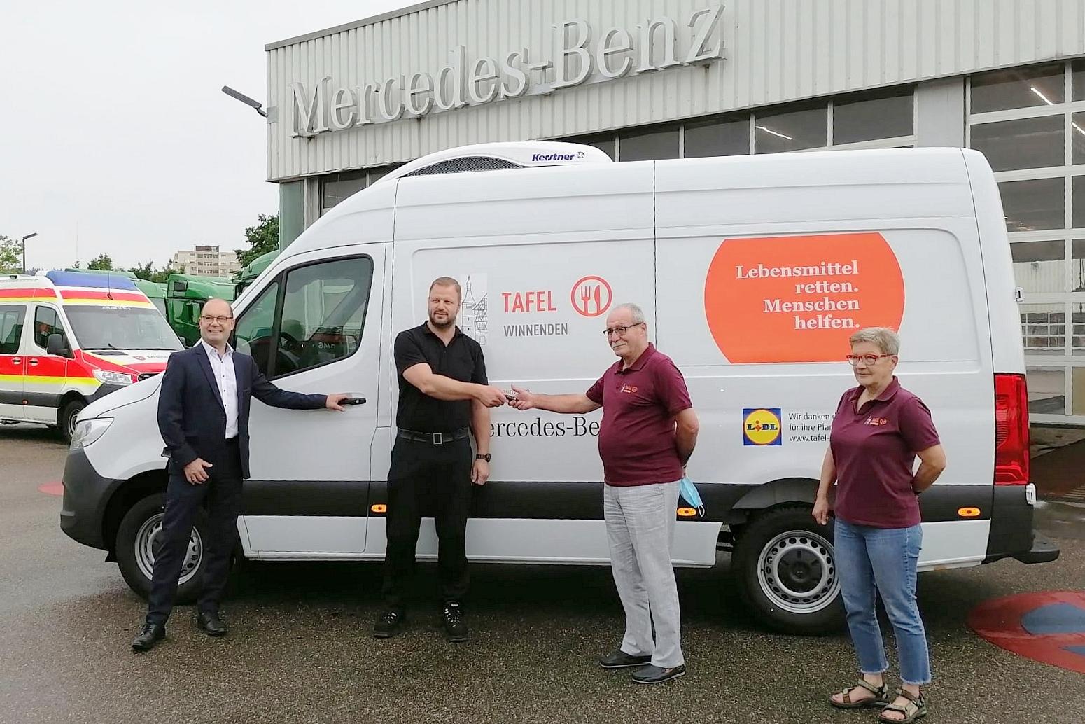 Herzlichen Dank allen Sponsoren u. Spendern bei der Anschaffung des neuen Kühlfahrzeuges!