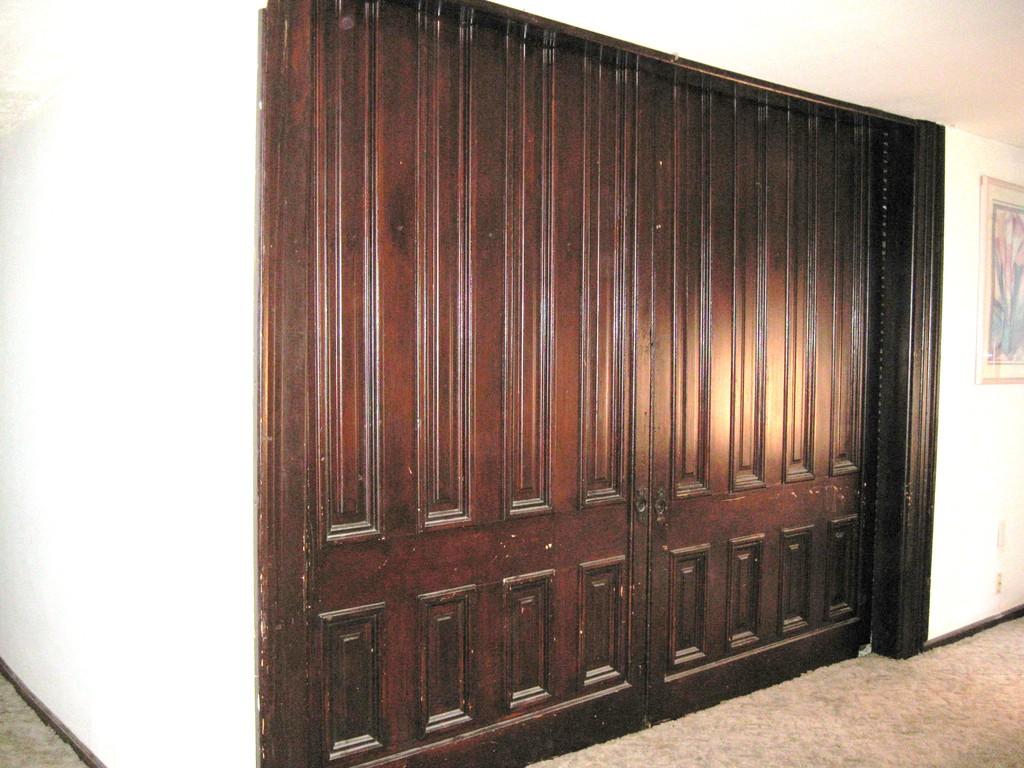 pocket doors on second floor- part of public library?