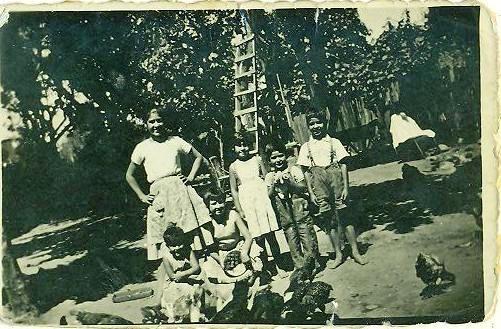 Los niños de la familia Freire.