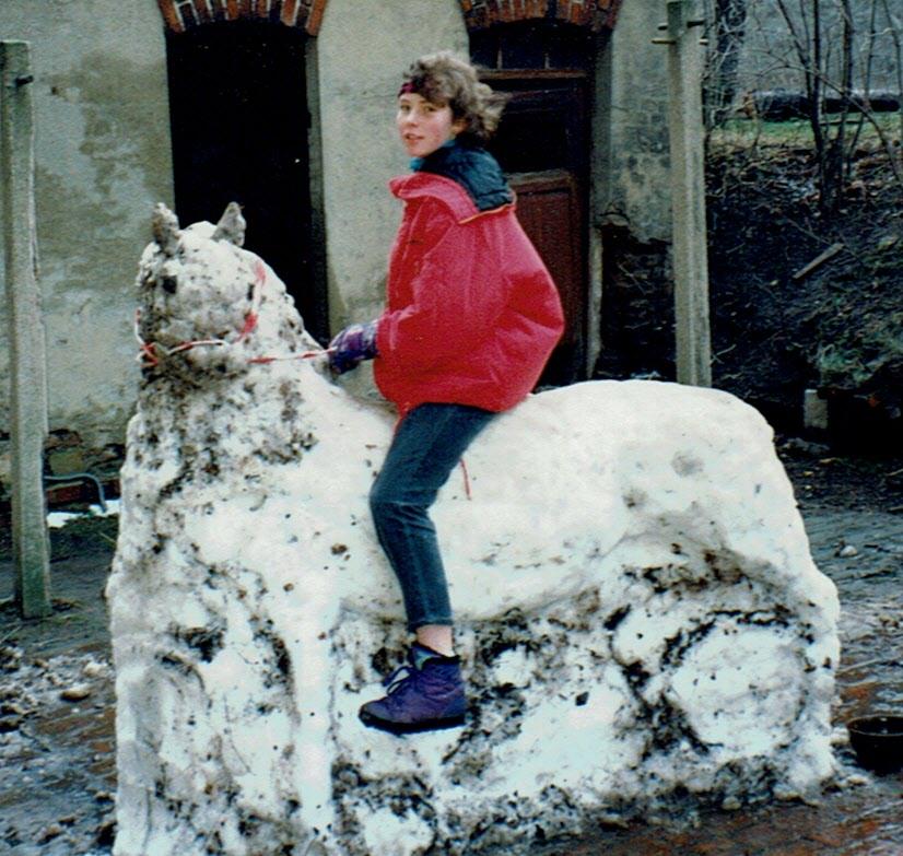 andere bauten Schneemänner - ich nicht