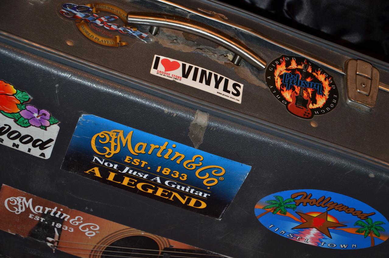 Une valise qui a voyagé