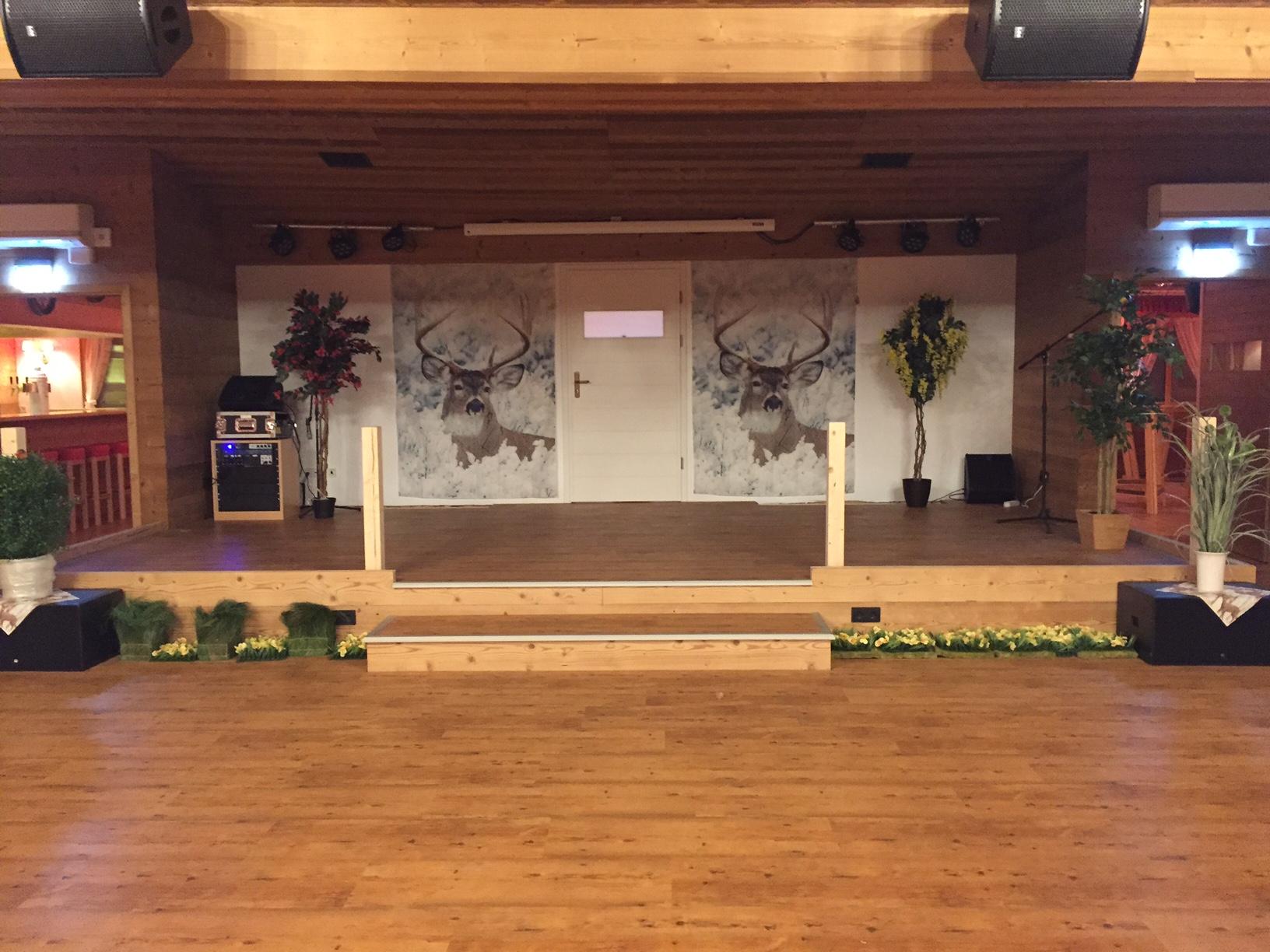 Hirschalm Theaterbühne mit Sound und Light