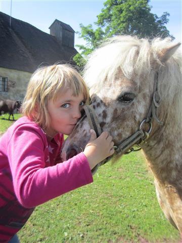 Küsschen fürs Pferdchen