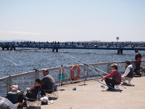 海釣り公園:東京湾に面し大人も子供も楽しめ、大物も狙える釣りの為の施設。