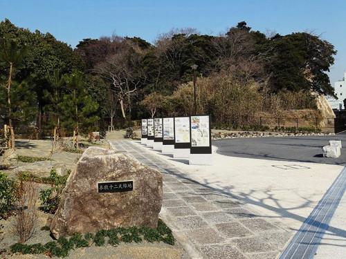 本牧12天緑地:本牧神社の前身地。風光明媚な場所に有り江戸名所絵図にも描かれ、ベアトも撮影し 多くの画家もここを描いている。
