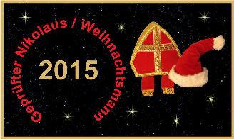 Geprüfter Weihnachtsmann und Nikolaus