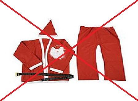Kostüm für 5€ - wollen Sie das Ihren Kindern bieten oder doch einen professionellen Weihnachtsmann?