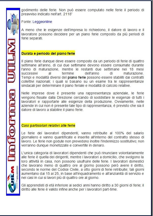 Ferie residue uilm provincia di cuneo for Permessi di soggiorno per lavoro