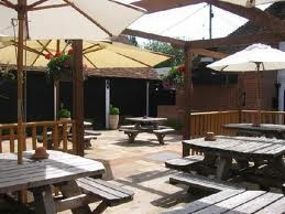 The Plume of Feathers BBQ garden