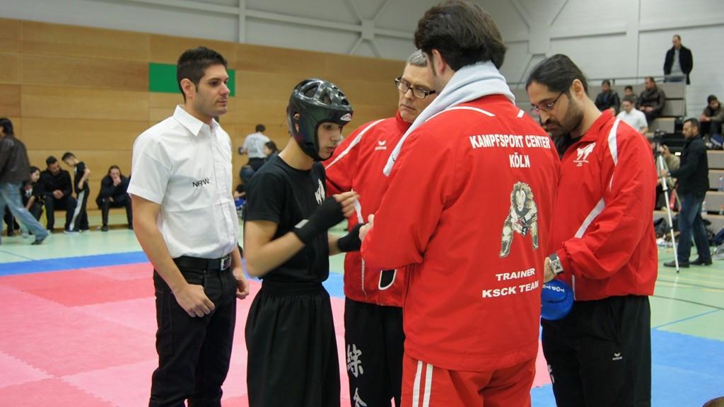 Besprechung mit den Trainern