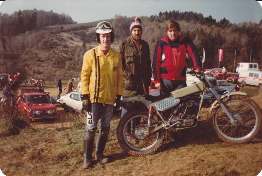 1978-1979: Walther Luft, Adi und Herbert Adamec. Eigenbau-Rahmen mit Montesa Montor
