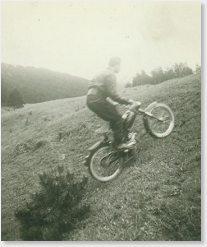 Walter Gsöll offroad mit Puch MV, 1,4 PS.