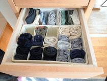 取り出しやすい靴下の収納例